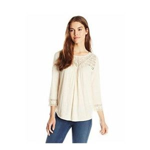 Lucky Brand Chevron Lace Top
